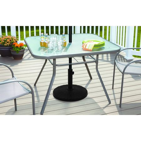 - Mainstays Powder Coated Resin Umbrella Base, Black