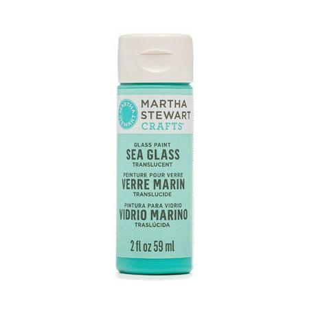Martha Stewart Crafts Translucent Sea Glass Paint: Beach Glass, 2 Oz ()