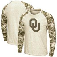 Oklahoma Sooners Colosseum OHT Military Appreciation Desert Camo Raglan Long Sleeve T-Shirt - Oatmeal