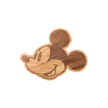 Picnic Time Mickey Mouse Head Cheese Platter and Cutting Board - Laser Cut Wooden Serving Plate for Appetizers, Fruit, Vegetables, Crackers
