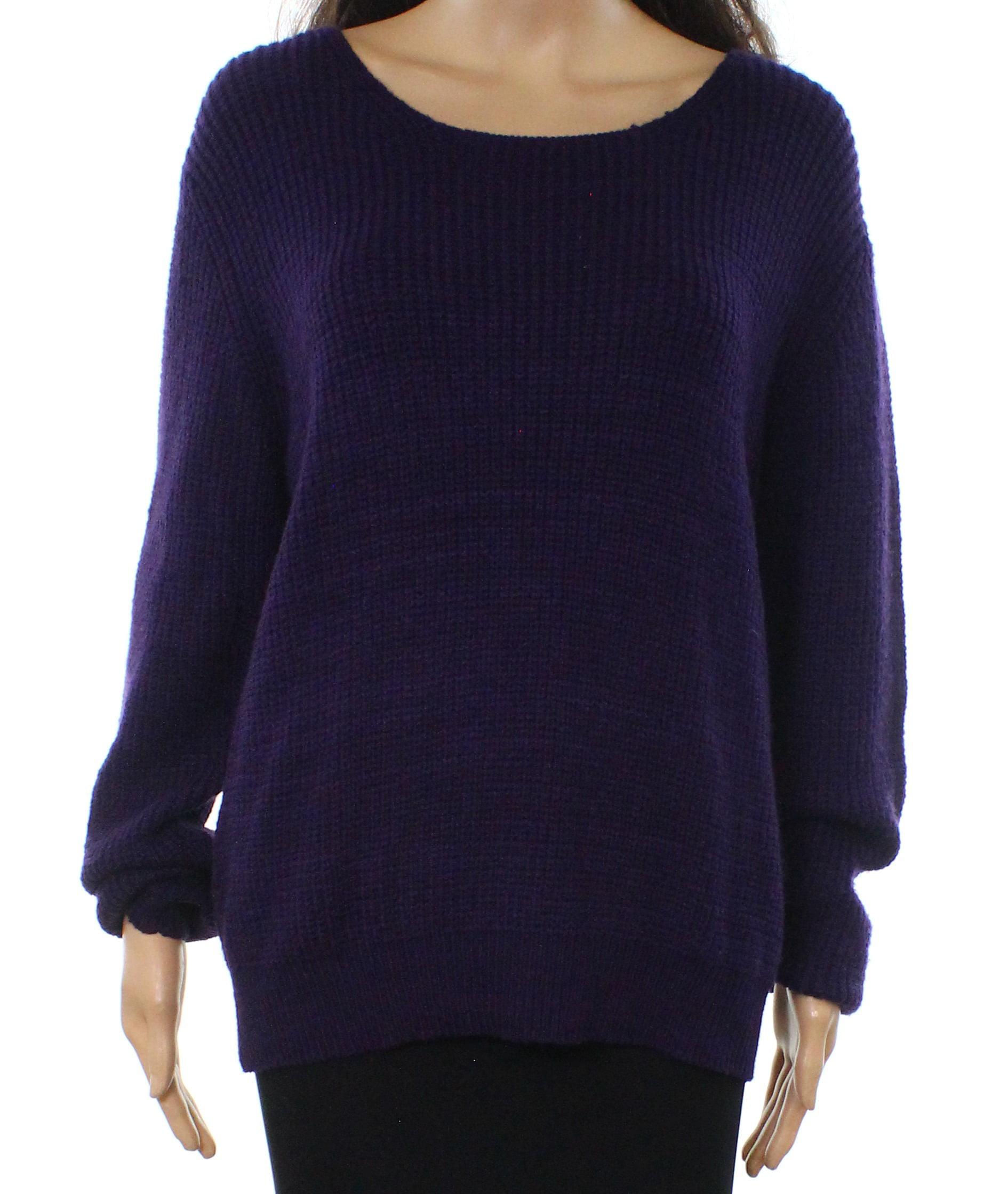 Autumn Cashmere Womens Scoop Neck Cable Knit Sweater Purple Cashmere Size XS | eBay