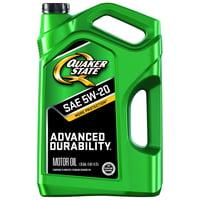 Deals on Quaker State 5W-20 Advanced Durability Motor Oil, 5 qt