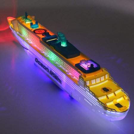 Ocean Liner Cruise Ship Boat Electric Toy Gift Flash LED led Light Sound Kid Child Children Flashing Light & Sound US](Toy Boat Walmart)