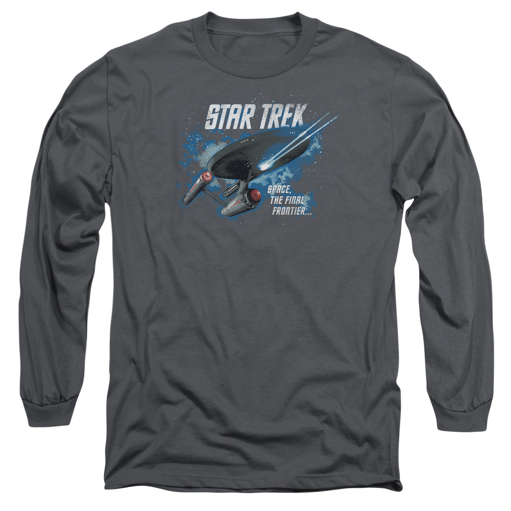 STAR TREK/THE FINAL FRONTIER - L/S ADULT 18/1 - CHARCOAL - XL