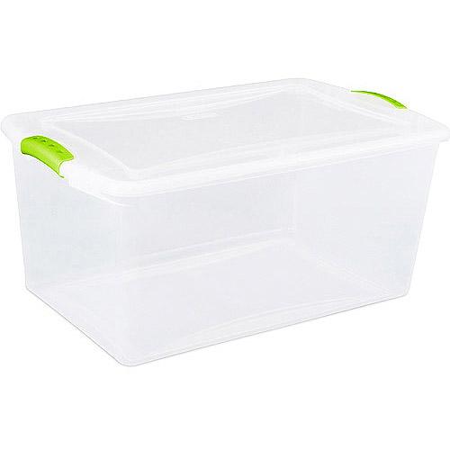 Sterilite 16-Gallon (64-Quart) Latch Storage Box, Set of 6
