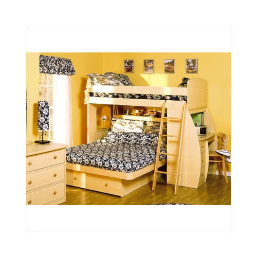 Space Saver Bunk Beds berg furniture sierra twin over full space saver bunk bed with