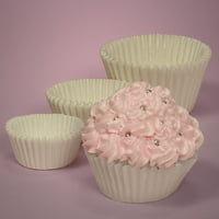 Snow White Large 2-1/4 x 1-7/8 Cupcake Muffin Wrapper Baking Cups, pack of 500