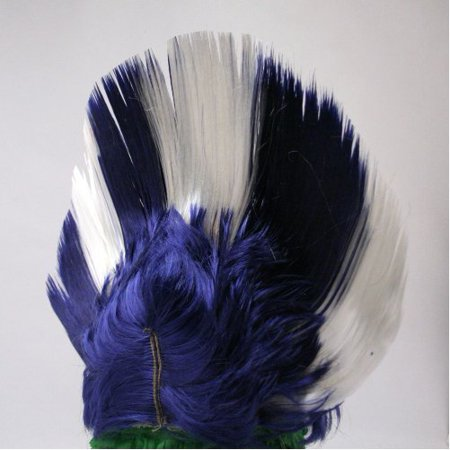 BLUE/WHITE MOHAWK WIG](Blue And White Wig)