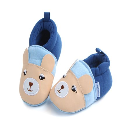 Cute Boy Girl Baby Soft Shoe Fring Soft Soled Non-Slip Footwear Crib Shoes KH/11