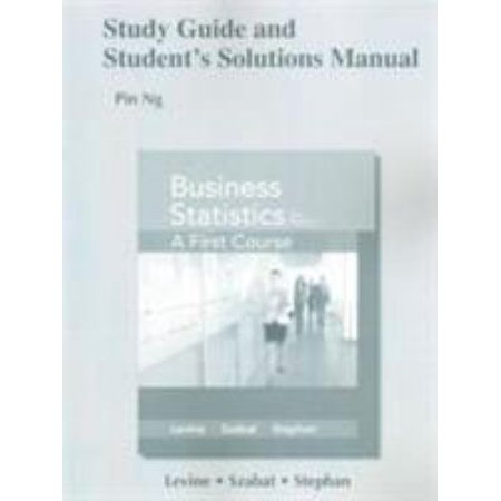Study Guide and Student's Solutions Manual for Business