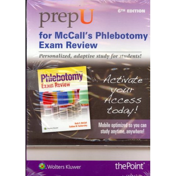 Prepu For Mccalls Phlebotomy Exam Review Access Code Walmart