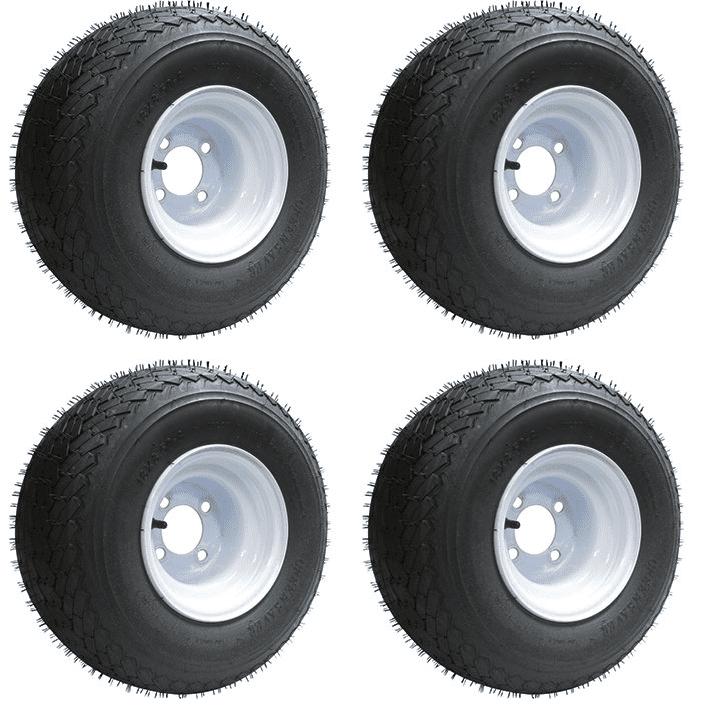 Slasher 18x8 50 8 Gtx Oem Golf Cart Wheels And Tires Combo Set Of 4 Walmart Com Walmart Com