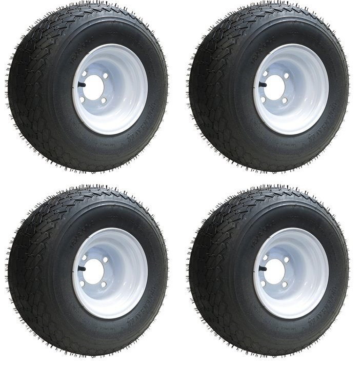 Slasher 18x8 50 8 Gtx Oem Golf Cart Wheels And Tires Combo Set Of