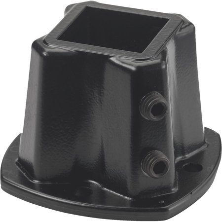 Black Cast Iron Flange Union (GILPIN IRONWORKS INC Windsor Floor Post Flange, Black, 1.25-In. 579)