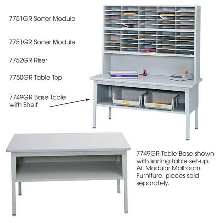 Safco 7749GR Mail Sorters E-Z Sort Sorting (Mail Sorting Table)