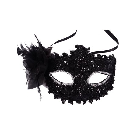 Black Lace Party Mask Venetian Style Eye Costume Masquerade Mardi Mask