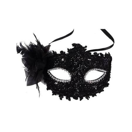 Black Lace Party Mask Venetian Style Eye Costume Masquerade Mardi Mask - Halloween Club Masquerade Masks