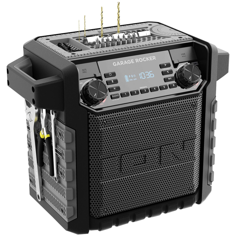 Ion Audio IPA108 Garage Rocker Water-Resistant Worksite Portable Speaker With Bluetooth