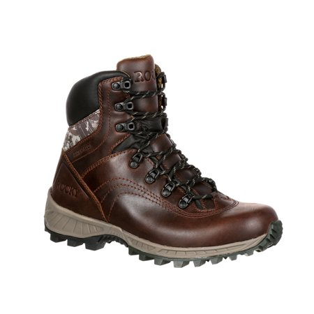 Rocky Mens 7 Waterproof Hunting Outdoor Boots Brown Leather Nylon 13 W