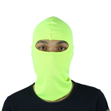 Motorcycle Full Face Mask Cover Neck Protecting Balaclava Hat Fluorescence Green - Open Face Balaclava