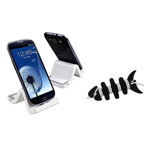 Insten White Sync Charger Dock Cradle For Samsung Galaxy S3 i9300 S4 i9500 S5 Note 4 N9100 3 N9000+Fishbone Wrap