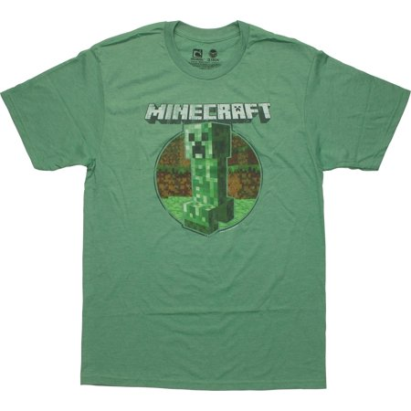 Minecraft Retro Creeper Green T-Shirt - Minecraft Green