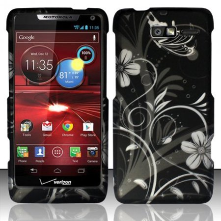 Motorola Razr Faceplates (Design Rubberized Hard Case for Motorola Droid RAZR M XT907 - White Flower )