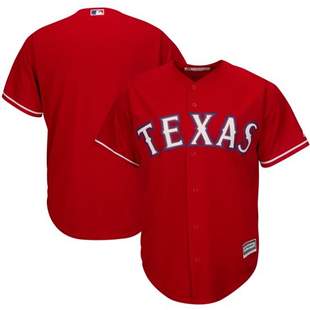 Texas Rangers Majestic Official Cool Base Jersey - Red (Custom Texans Jersey)