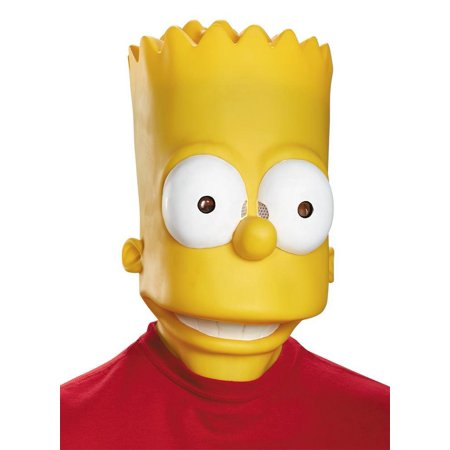 The Simpsons Bart Adult Vinyl Mask Cartoon TV Character Costume Accessory - image 1 de 1