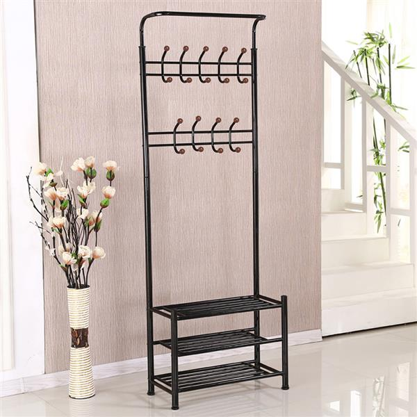 Great Yaheetech Clothes Coat Stand, Shoes Rack Umbrella Stand, Entry Storage, Max  Load Capicity