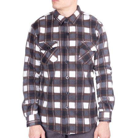 Visive Mens Long Sleeve Plaid Flannel Shirts Button Down Jacket Shirt Size S - 5XL