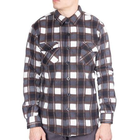 Visive Mens Long Sleeve Plaid Flannel Shirts Button Down Jacket Shirt Size S - 5XL Big Tall Flannel Shirts