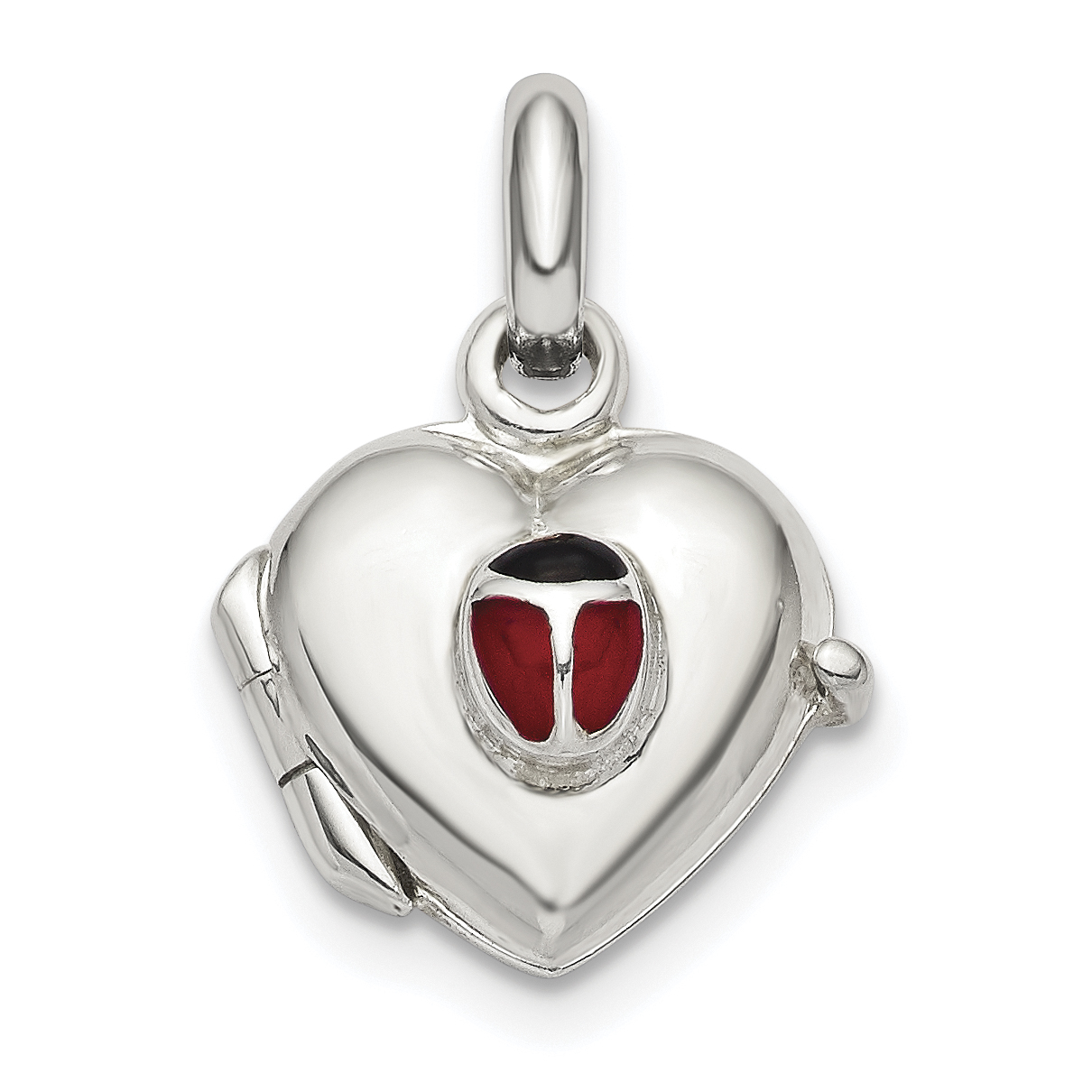 925 Sterling Silver Butterflies 12mm Heart Photo Pendant Charm Locket Chain Necklace That Holds Pictures Fine Mothers Day Jewelry For Women Gifts For Her