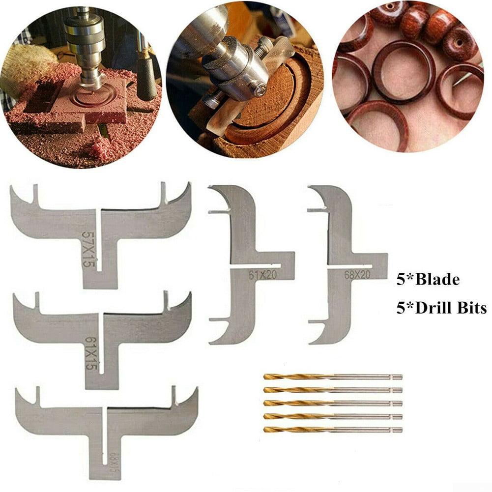 12PCS Wood Bracelet Milling Cutter Router Bit Set Woodworking Beads Drill Tool G