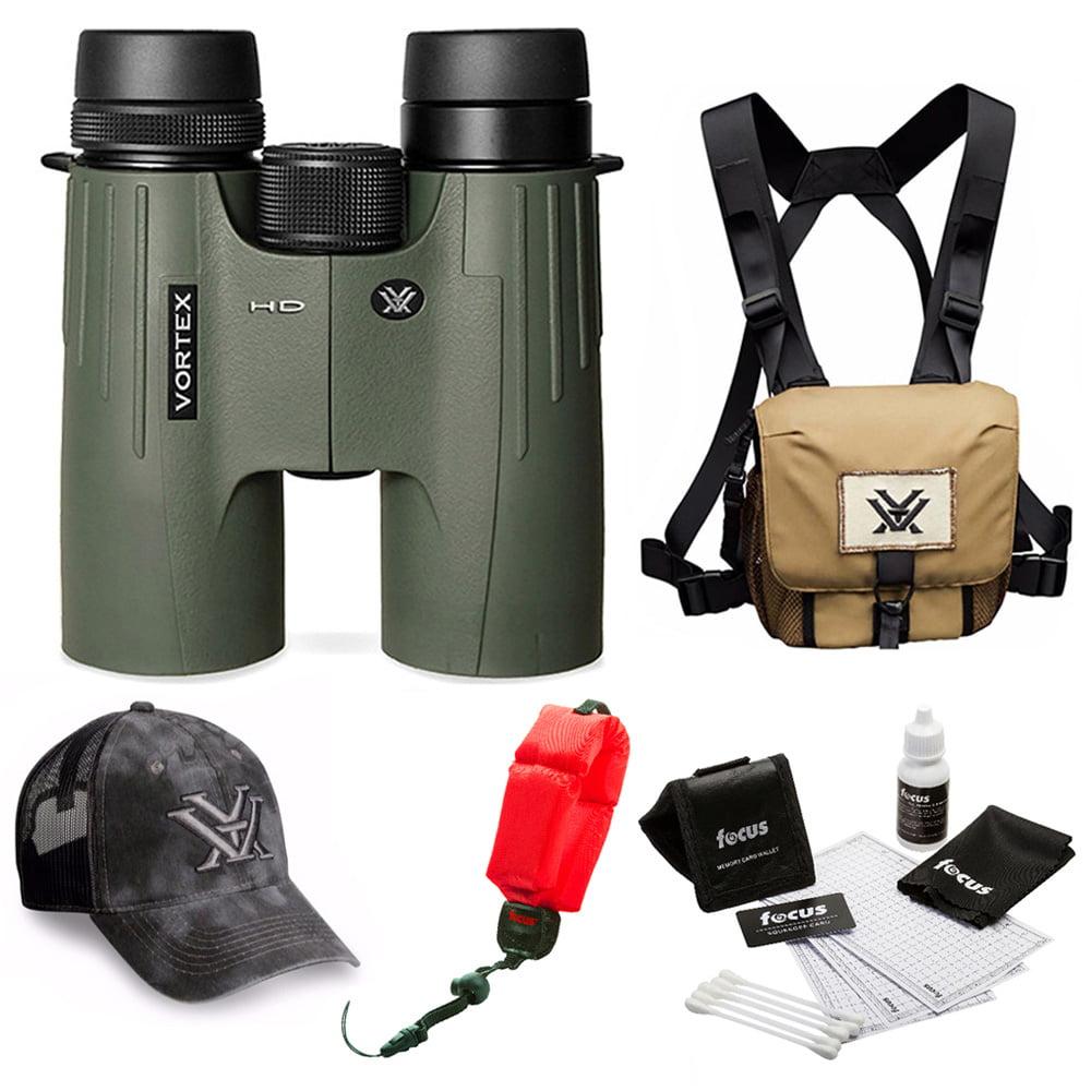Vortex Optics Viper HD 8x42 Roof Prism Binocular  + Glasspak Harness Bundle