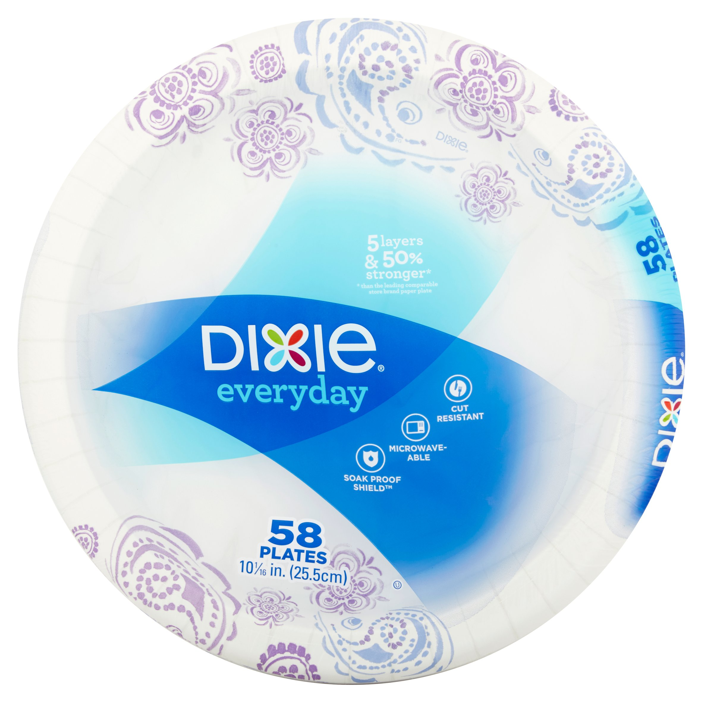 Dixie Everyday Paper Plates, 58 count
