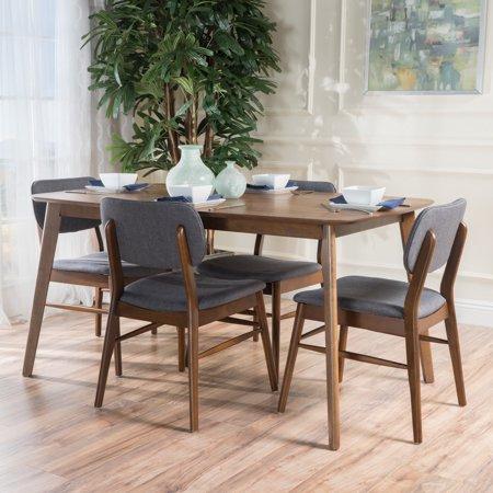 3bdc19644272f Carson Carrington Kemi Mid-century 5-piece Wood Large Dining Table ...