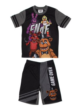 "Five Nights at Freddy's Boys Exclusive 6-16 ""Game Over"" 2-Piece Pajama Sleep Set"