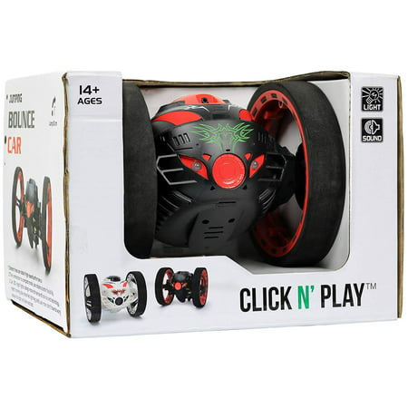 Click N' Play 2.4GHz RC Remote Control Jumping and Bouncing Stunt Car With Lights And Sound.