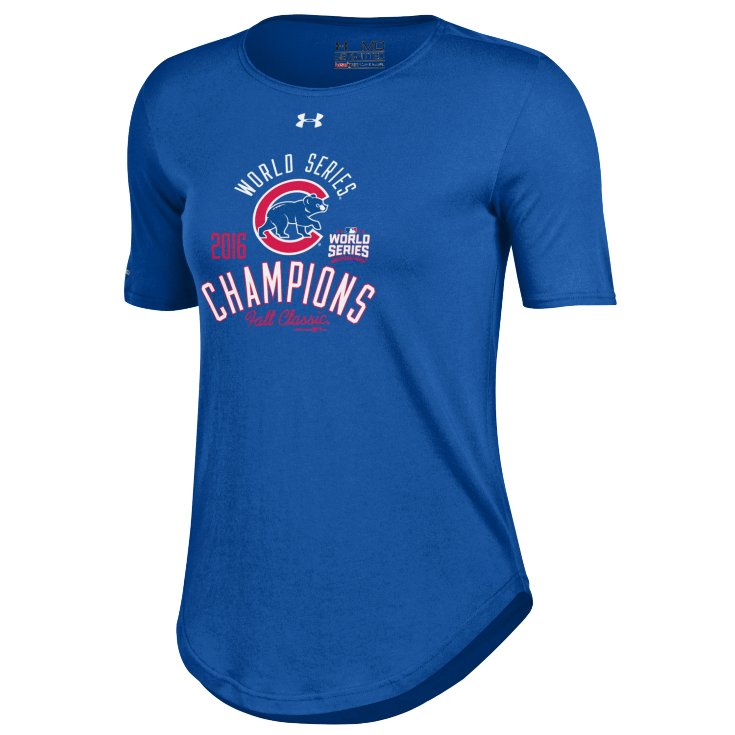Chicago Cubs Under Armour Women's 2016 World Series Champions Performance T-Shirt - Royal