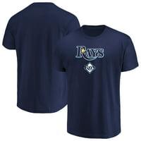 Men's Majestic Navy Tampa Bay Rays Bigger Series Sweep T-Shirt