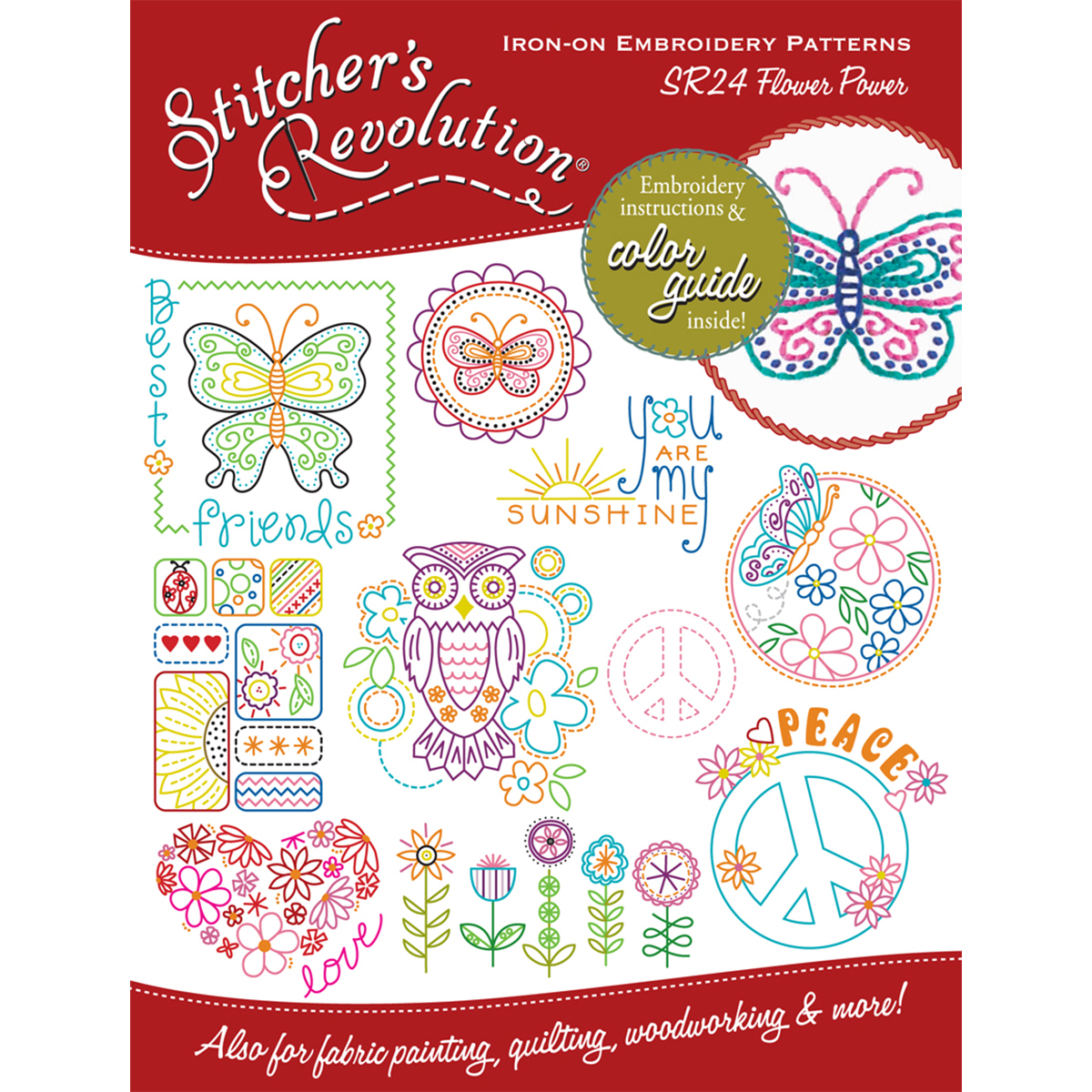 Stitcher's Revolution Iron-On Transfers-Flower Power