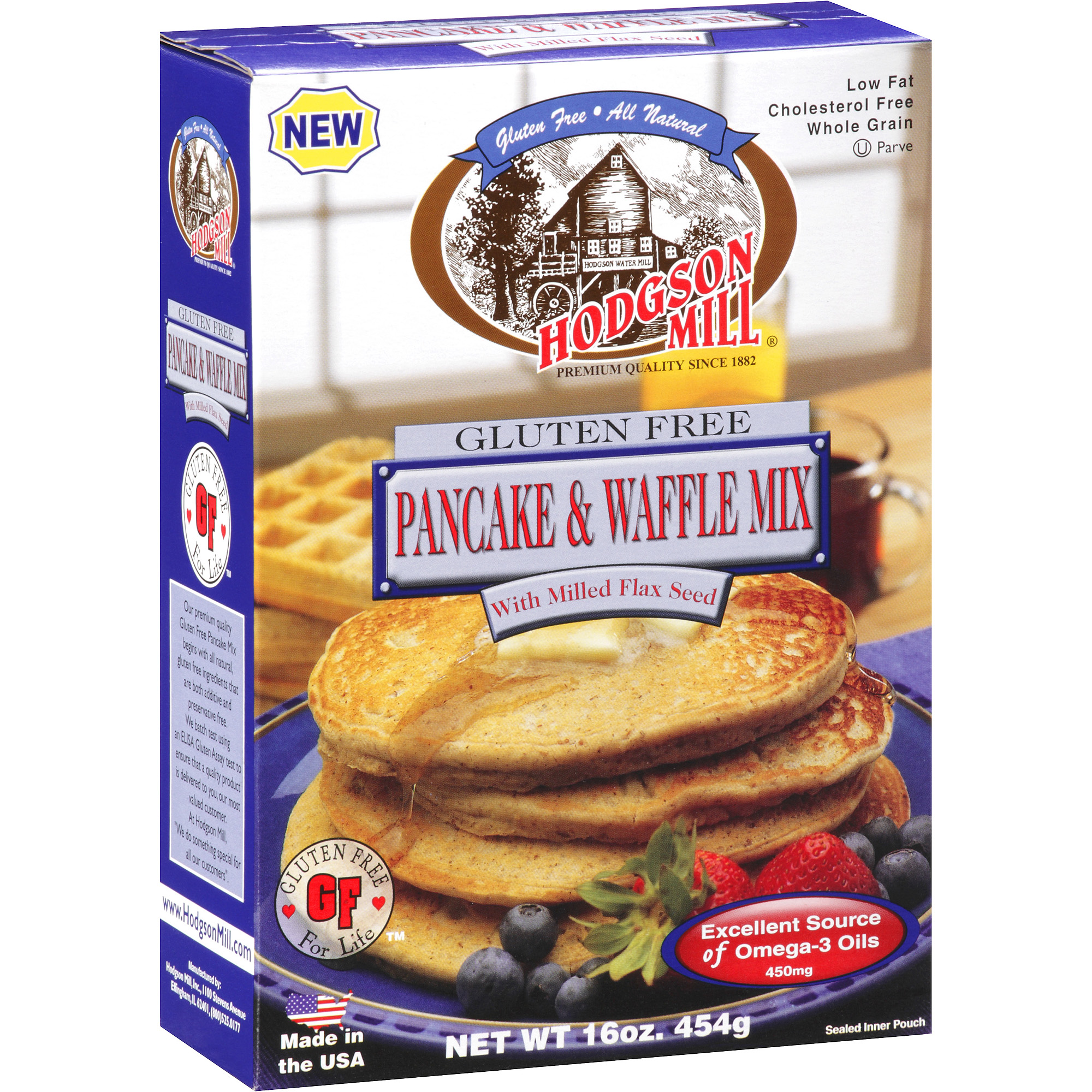 Hodgson Mill Gluten Free Pancake & Waffle Mix with Milled Flax Seed, 16 oz by Hodgson Mill Inc.