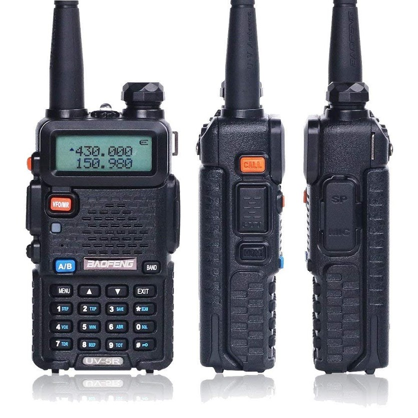 BaoFeng UV-5R VHF/UHF Dual Band Two-Way Radio (136-174Mhz VHF & 400-520Mhz UHF) Includes Full Kit
