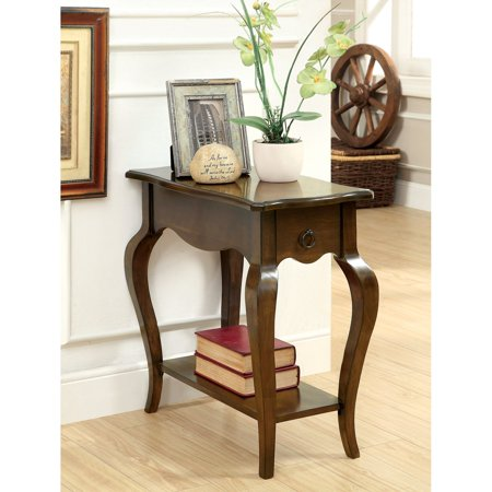 Furniture of America Havana 1-Drawer Side Accent Table with Antique Ring Pull - Tobacco Oak ()