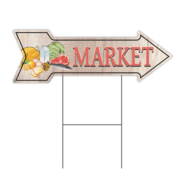 Market 2 Arrow Yard Sign Funny Home Decor 36 Wide Walmart Com Walmart Com