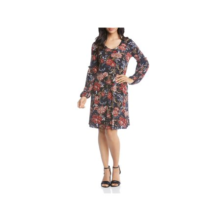 Printed Harper Dress (Karen Kane Lace Overlay A Line Dress)