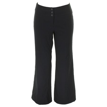 Style & Co Navy Mid Rise Stretch Wide-Leg Pants