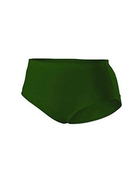Alleson Girls Cheerleader Briefs, Dark Green, Small
