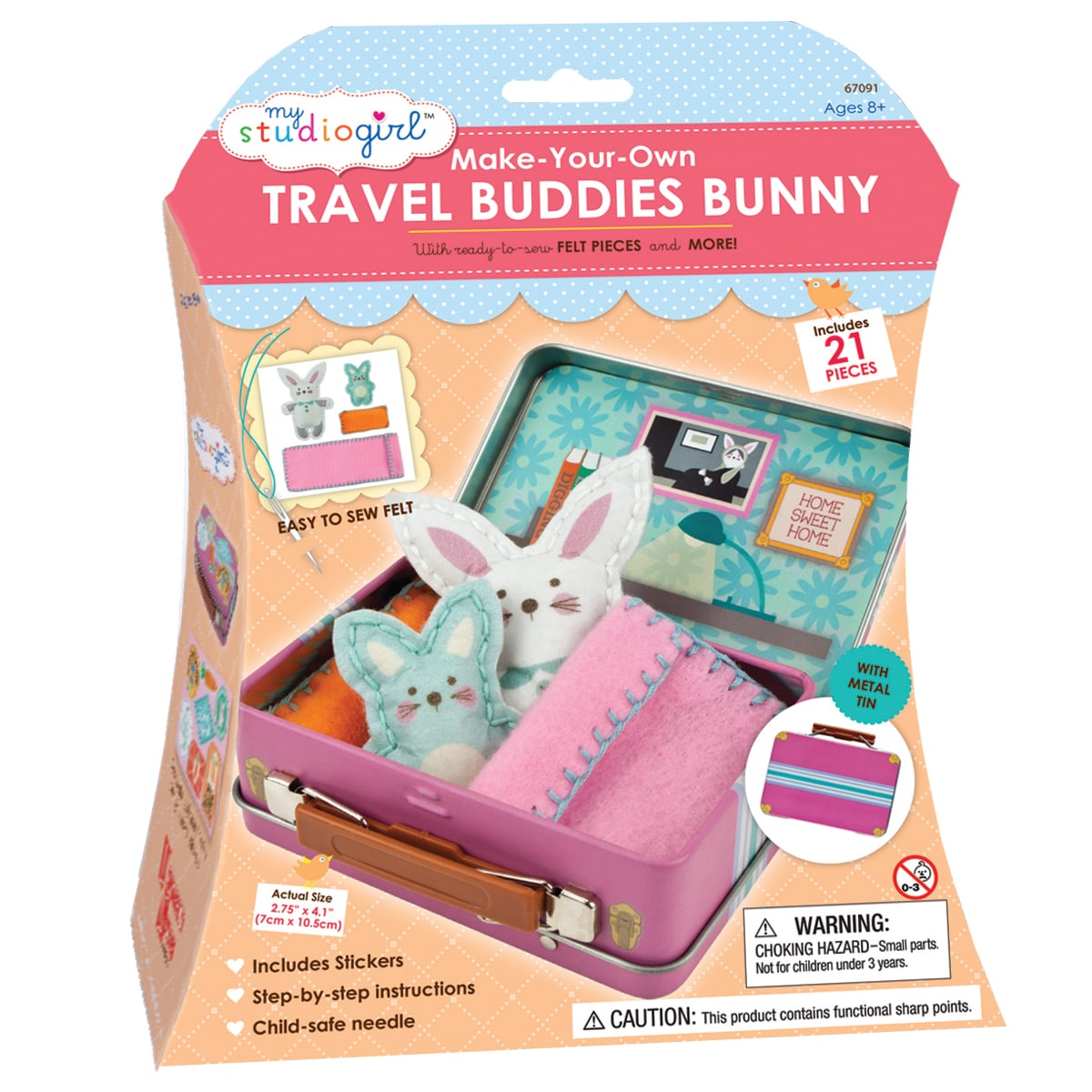 My Studio Girl Make-Your-Own Travel Buddies Bunny